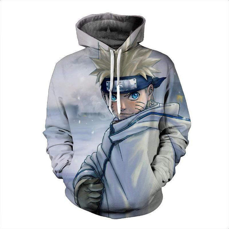 OtakuForm-Naruto Hoodie XXS Naruto White Cloak Land Of Snow  - Naruto Amazing Anime 3D Hoodie