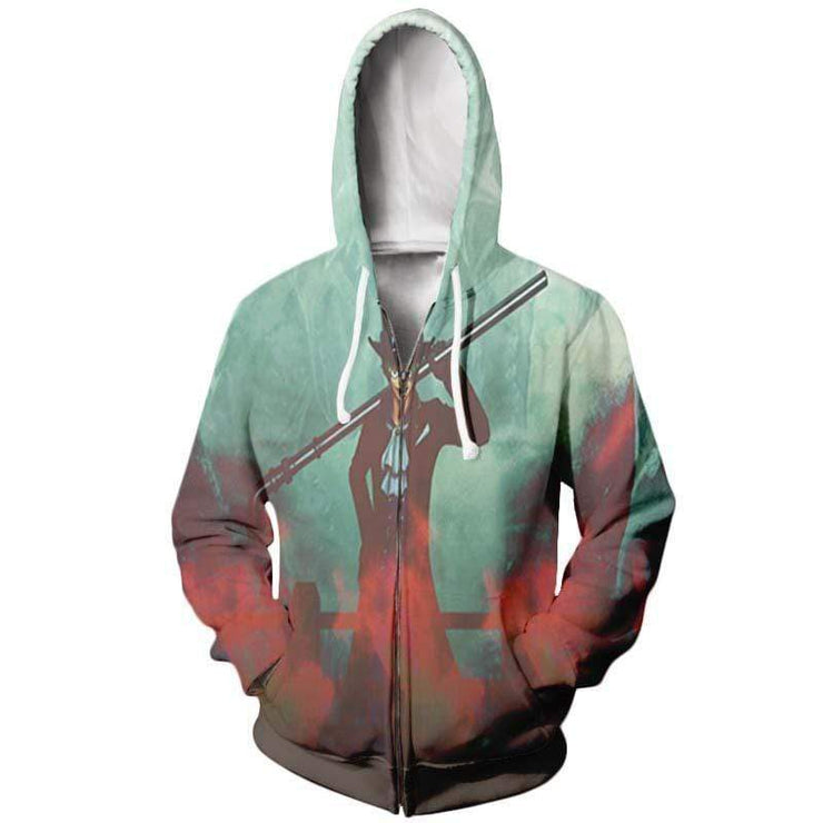 One Piece Hoodie XXS / Zip Up Hoodie One Piece abo Ice and Fire Elements - One Piece Hoodie
