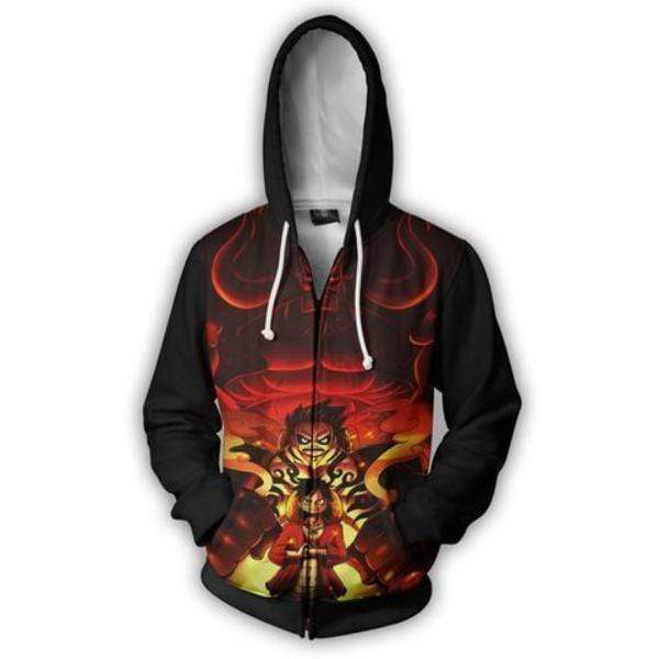 One Piece Zip Up Hoodie XXS One Piece Anime Hoodie - Monkey D Luffy Gear Fourth 3D Zip Up Hoodie Jacket