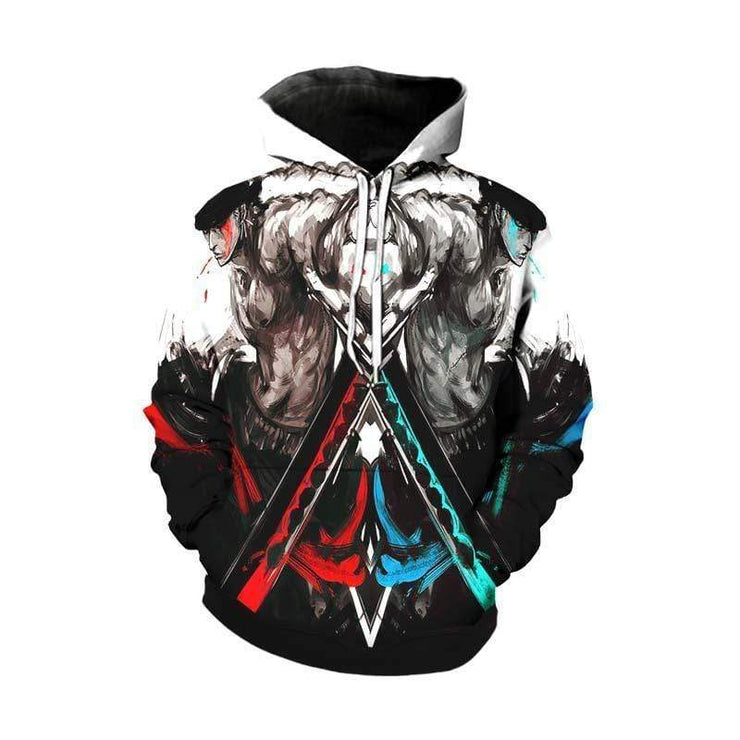 One Piece Hoodie XXS / Pull Over hoodie One Piece Hoodie - Mirrored Zoro One Piece Hoodie
