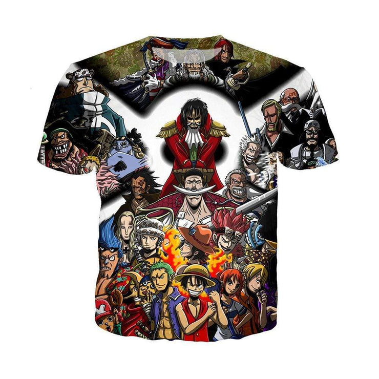 Anime Merchandise T-Shirt M One Piece Shirt - Characters Collage T-Shirt