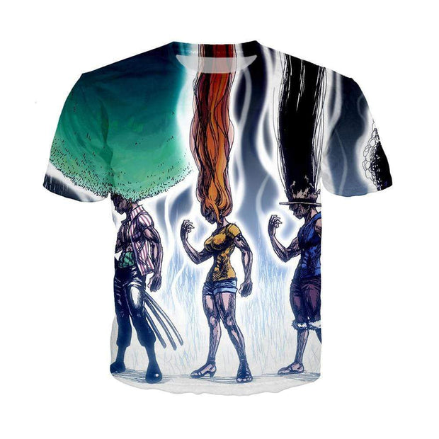 Anime Merchandise T-Shirt M One Piece Shirt - Hunter x Hunter Crossover T-Shirt