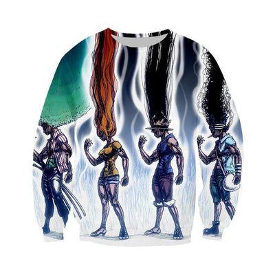 Animerchandise Sweatshirt M One Piece Sweatshirt - Hunter x Hunter Crossover Sweatshirt