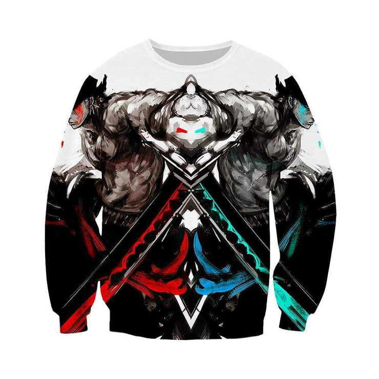 Anime Merchandise Sweatshirt M One Piece Sweatshirt - Zoro Mirror-Image Sweatshirt