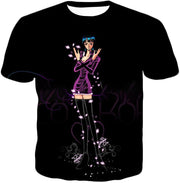 OtakuForm-OP T-Shirt T-Shirt / XXS One Piece T-Shirt - One Piece Oharas Devil Child Scholar Nico Robin Black T-Shirt