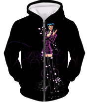 OtakuForm-OP T-Shirt Zip Up Hoodie / XXS One Piece T-Shirt - One Piece Oharas Devil Child Scholar Nico Robin Black T-Shirt