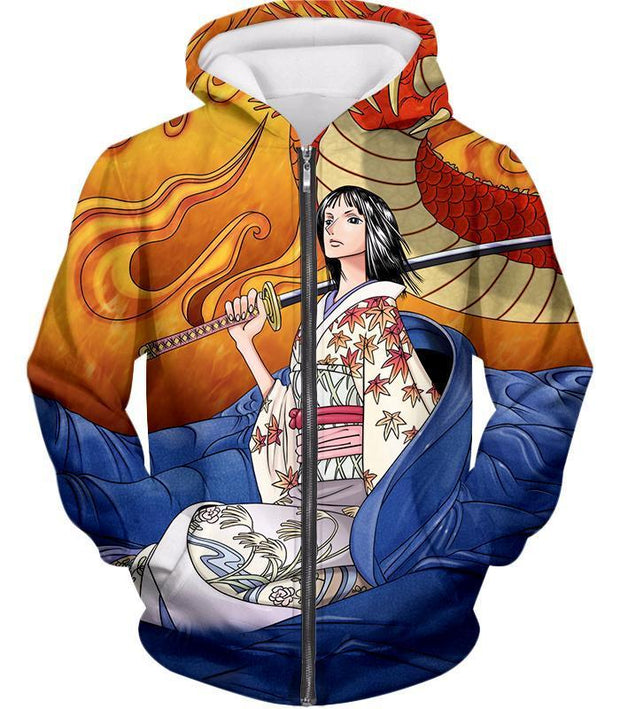 OtakuPlan Zip Up Hoodie Zip Up Hoodie / XXS One Piece Zip Up Hoodie - One Piece Hot Anime Girl Devil Child Nico Robin Zip Up Hoodie