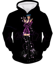 OtakuForm-OP Zip Up Hoodie Hoodie / XXS One Piece Zip Up Hoodie - One Piece Oharas Devil Child Scholar Nico Robin Black Zip Up Hoodie