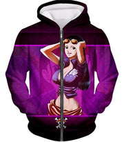 OtakuPlan Zip Up Hoodie Zip Up Hoodie / XXS One Piece Zip Up Hoodie - One Piece Sexy One Piece Girl Nico Robin Of Straw Hat Pirates Zip Up Hoodie