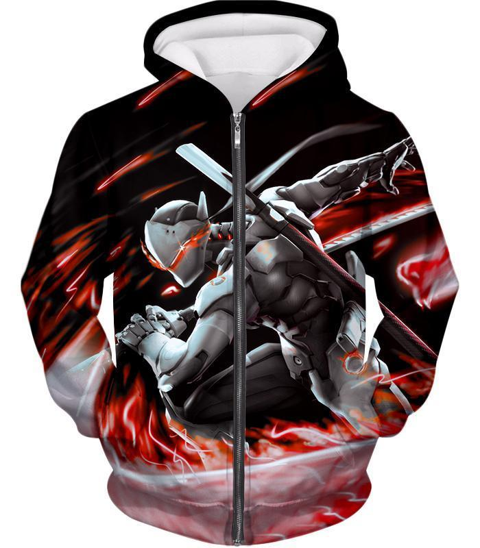 af0cefa4c OtakuForm-OP Zip Up Hoodie Zip Up Hoodie / US XXS (Asian XS). Overwatch  Super Cool Cyborg Ninja Genji ...