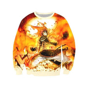 Fairytail Sweatshirt XXS Playing With Fire Sweatshirt - Fairy Tail 3D Printed Sweatshirt