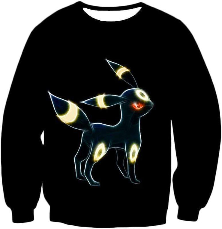 OtakuForm-OP Zip Up Hoodie Sweatshirt / XXS Pokemon Eevee Dark Pokemon Evolution Cool Umbreon Black Zip Up Hoodie  - Pokemon Zip Up Hoodie