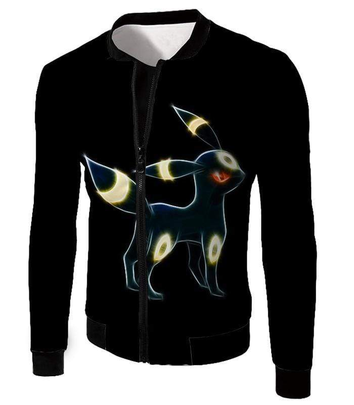 OtakuForm-OP Zip Up Hoodie Jacket / XXS Pokemon Eevee Dark Pokemon Evolution Cool Umbreon Black Zip Up Hoodie  - Pokemon Zip Up Hoodie