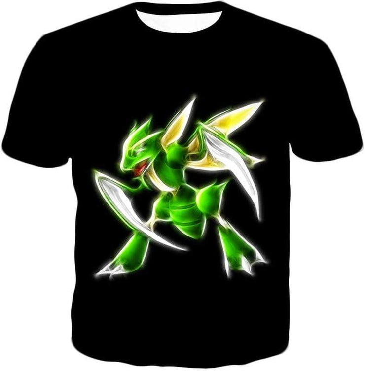 OtakuForm-OP Sweatshirt T-Shirt / XXS Pokemon Flying Bug Type Pokemon Scyther Cool Black Sweatshirt  - Pokemon Sweatshirt