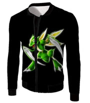OtakuForm-OP Zip Up Hoodie Jacket / XXS Pokemon Flying Bug Type Pokemon Scyther Cool Black Zip Up Hoodie  - Pokemon Zip Up Hoodie