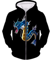 OtakuForm-OP Hoodie Zip Up Hoodie / XXS Pokemon Flying Water Type Pokemon Gyarados Black Hoodie  - Pokemon Hoodie