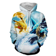 OP-NEW Hoodies XXS / Blue Pokemon Hoodie - Pikachu Hoodie Pokemon Jacket