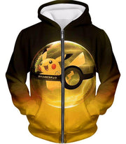 OtakuForm-OP Hoodie Zip Up Hoodie / XXS Pokemon Hoodie - Pokemon Best Pokemon Pikachu Pokeball Cool Black Yellow Hoodie