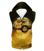 OtakuForm-OP Hoodie Hooded Tank Top / XXS Pokemon Hoodie - Pokemon Best Pokemon Pikachu Pokeball Cool Black Yellow Hoodie