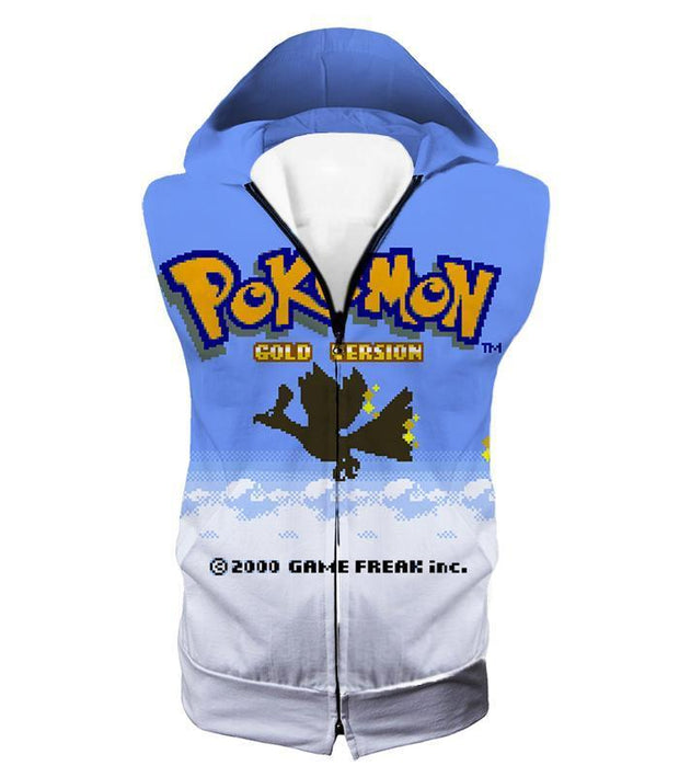 Pokemon Hoodie - Pokemon Cool Pokemon Gold Version Game Promo Hoodie