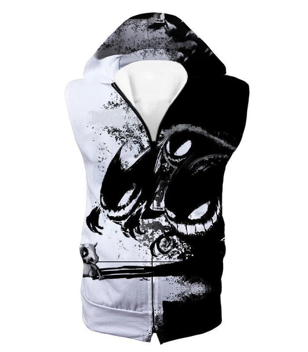 OtakuForm-OP Hoodie Hooded Tank Top / XXS Pokemon Hoodie - Pokemon Ghost Pokemon Trio Haunter Gengar and Ghastly Cool Hoodie
