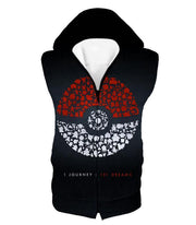 OtakuForm-OP Hoodie Hooded Tank Top / XXS Pokemon Hoodie - Pokemon Pokeball One Journey Pokemon Promo Black Hoodie