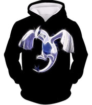 OtakuForm-OP Hoodie Hoodie / XXS Pokemon Legendary Flying Psychic Pokemon Lugia Cool Black Hoodie  - Pokemon Hoodie