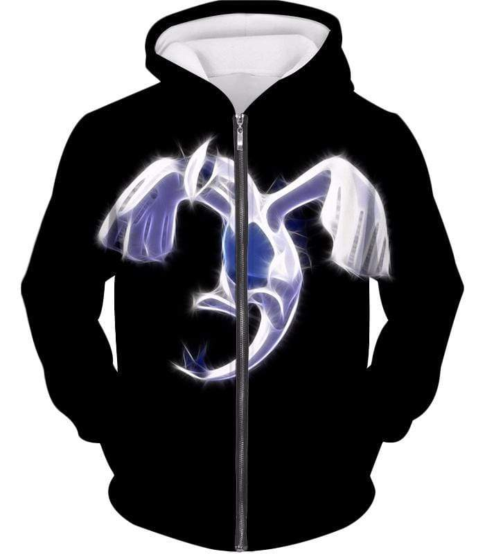 OtakuForm-OP Hoodie Zip Up Hoodie / XXS Pokemon Legendary Flying Psychic Pokemon Lugia Cool Black Hoodie  - Pokemon Hoodie