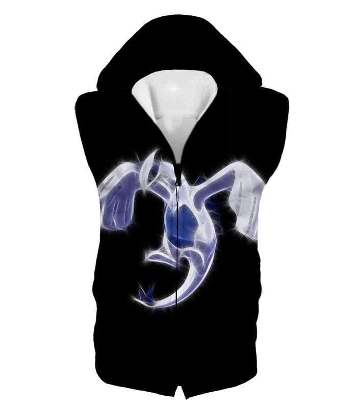 OtakuForm-OP Hoodie Hooded Tank Top / XXS Pokemon Legendary Flying Psychic Pokemon Lugia Cool Black Hoodie  - Pokemon Hoodie