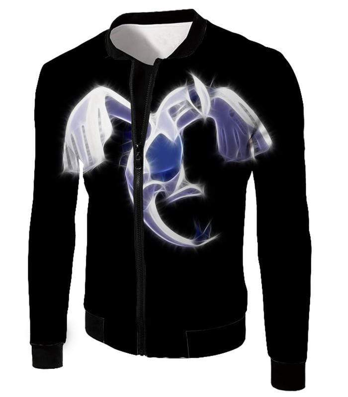OtakuForm-OP Hoodie Jacket / XXS Pokemon Legendary Flying Psychic Pokemon Lugia Cool Black Hoodie  - Pokemon Hoodie