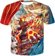 OtakuForm-OP Hoodie T-Shirt / XXS Pokemon Pokemon Legendary Red Blazing Groudon Hoodie