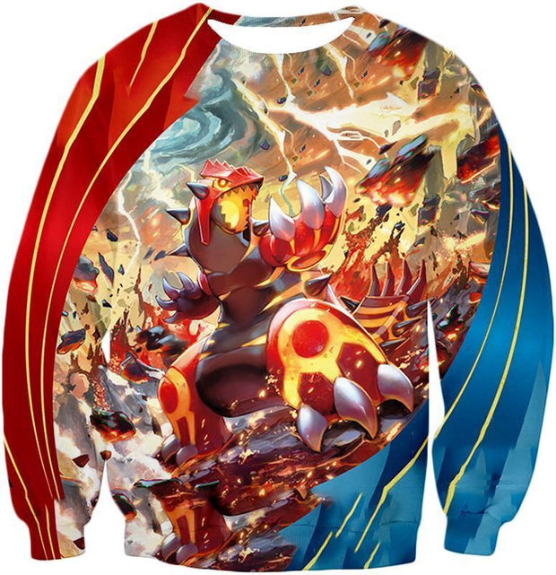OtakuForm-OP Hoodie Sweatshirt / XXS Pokemon Pokemon Legendary Red Blazing Groudon Hoodie