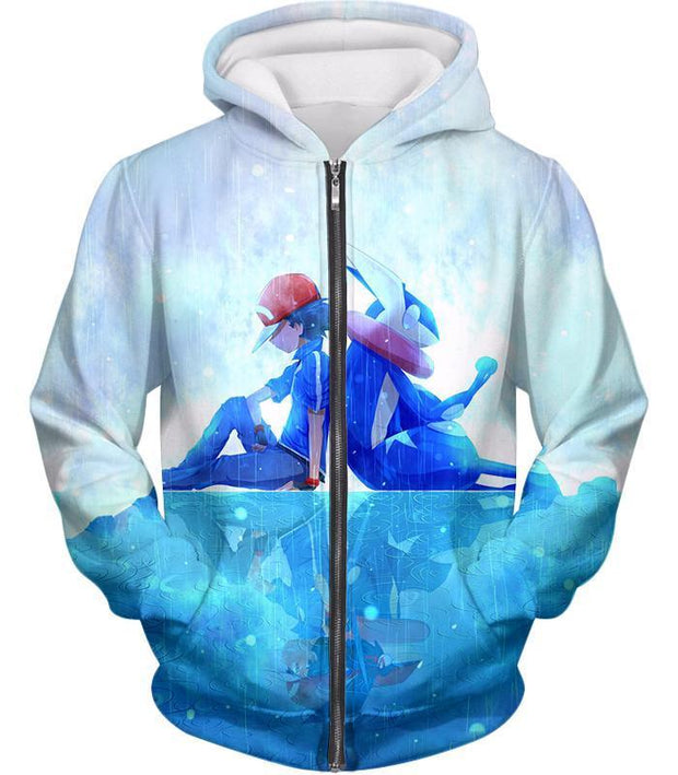 OtakuForm-OP T-Shirt Zip Up Hoodie / XXS Pokemon Pokemon Promo Ash X Greninja T-Shirt
