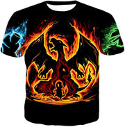 OtakuForm-OP T-Shirt T-Shirt / XXS Pokemon T-Shirt - Pokemon Amazing Fire Type Charmander Evolution Tree T-Shirt