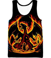 OtakuForm-OP T-Shirt Tank Top / XXS Pokemon T-Shirt - Pokemon Amazing Fire Type Charmander Evolution Tree T-Shirt