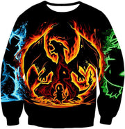 OtakuForm-OP T-Shirt Sweatshirt / XXS Pokemon T-Shirt - Pokemon Amazing Fire Type Charmander Evolution Tree T-Shirt