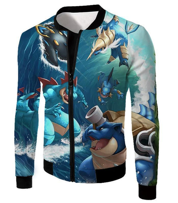 OtakuForm-OP T-Shirt Jacket / XXS Pokemon T-Shirt - Pokemon Awesome All Powerful Water Type Pokemons Cool T-Shirt