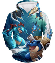 OtakuForm-OP T-Shirt Hoodie / XXS Pokemon T-Shirt - Pokemon Awesome All Powerful Water Type Pokemons Cool T-Shirt