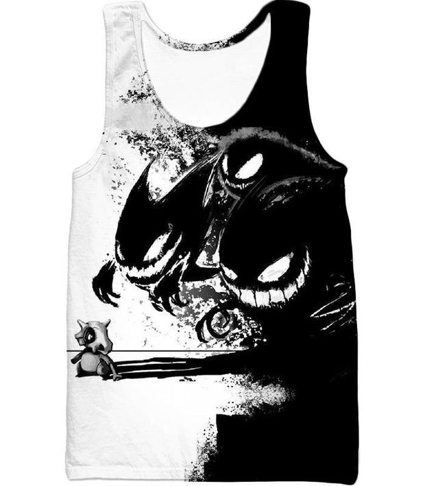 OtakuForm-OP T-Shirt Tank Top / XXS Pokemon T-Shirt - Pokemon Ghost Pokemon Trio Haunter Gengar and Ghastly Cool T-Shirt