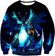 OtakuForm-OP T-Shirt Sweatshirt / XXS Pokemon T-Shirt - Pokemon Powerful Ash Charizard Mega Evolution Cool Graphic T-Shirt