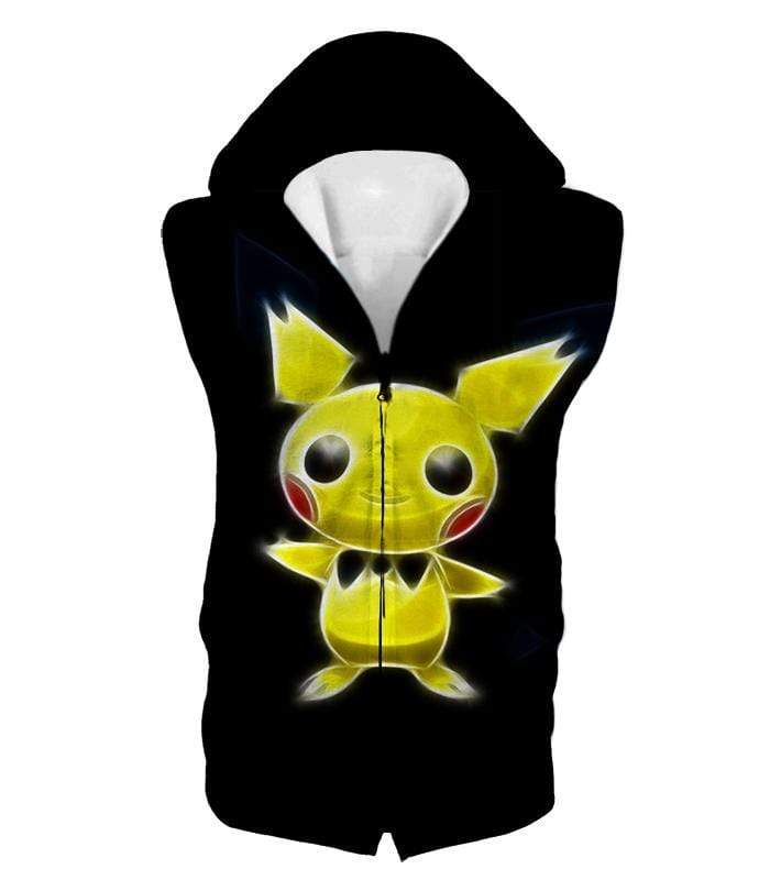 OtakuForm-OP Hoodie Hooded Tank Top / XXS Pokemon Thunder Pokemon Pichu Cool Black Hoodie  - Pokemon Hoodie