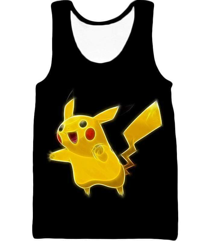 OtakuForm-OP Hoodie Tank Top / XXS Pokemon Thunder Type Pokemon Pikachu Cool Black Hoodie  - Pokemon Hoodie