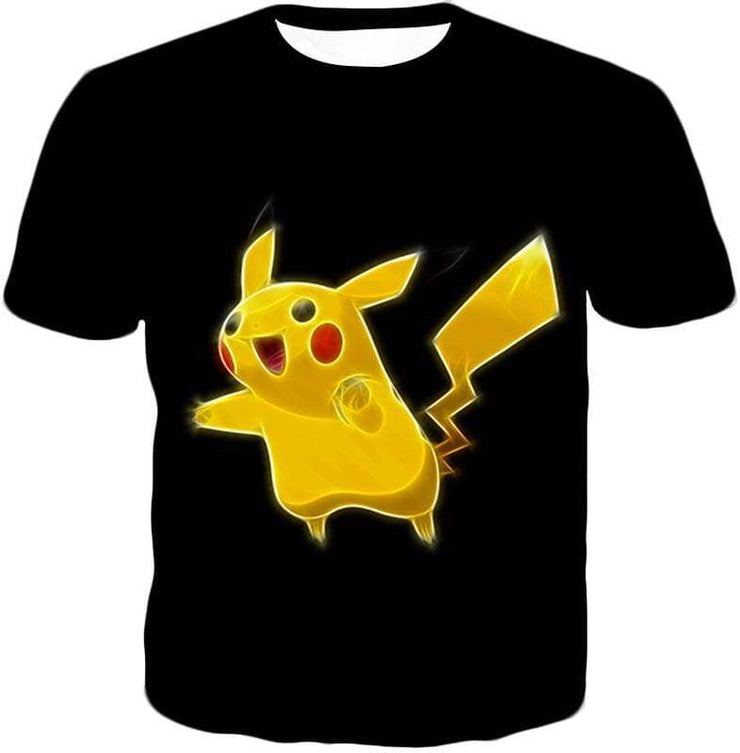 OtakuForm-OP T-Shirt T-Shirt / XXS Pokemon Thunder Type Pokemon Pikachu Cool Black T-Shirt  - Pokemon T-Shirt