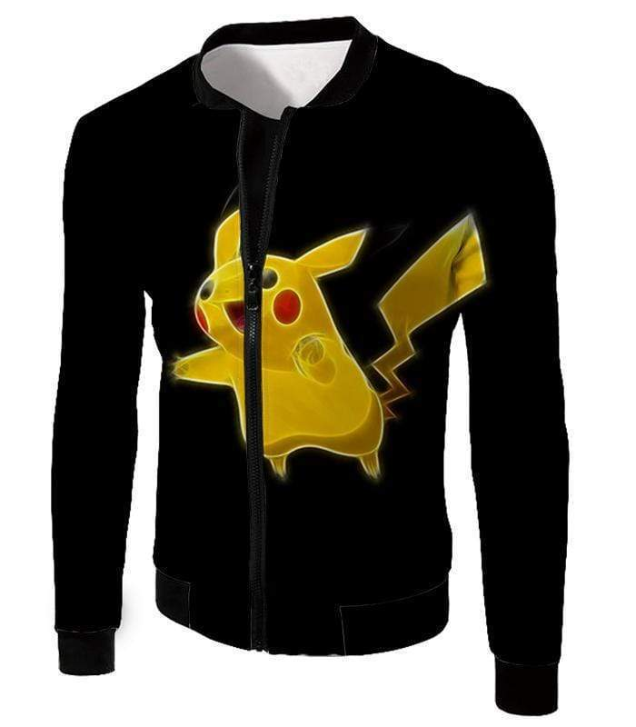 OtakuForm-OP T-Shirt Jacket / XXS Pokemon Thunder Type Pokemon Pikachu Cool Black T-Shirt  - Pokemon T-Shirt