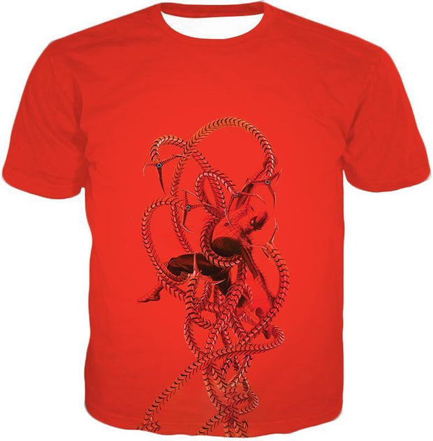 OtakuForm-OP T-Shirt T-Shirt / XXS Spiderman in Octopus Claws Cool Red Action T-Shirt