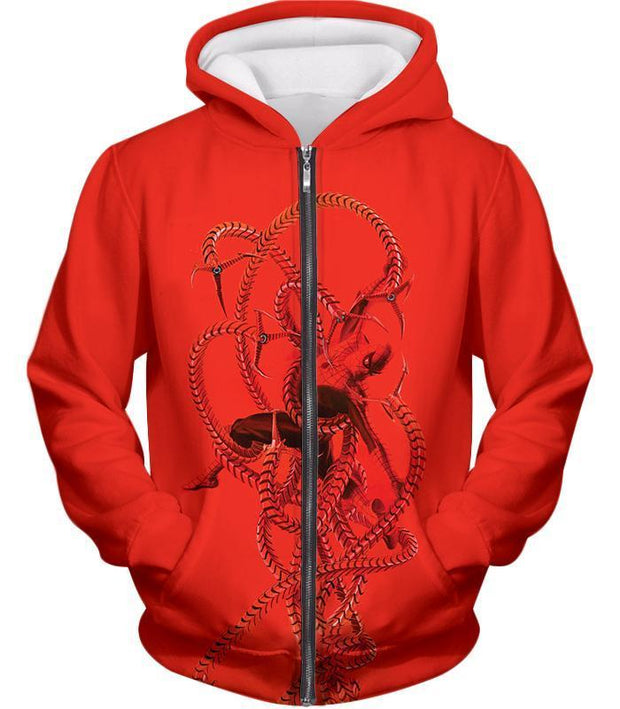 OtakuForm-OP T-Shirt Zip Up Hoodie / XXS Spiderman in Octopus Claws Cool Red Action T-Shirt