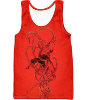 OtakuForm-OP T-Shirt Tank Top / XXS Spiderman in Octopus Claws Cool Red Action T-Shirt