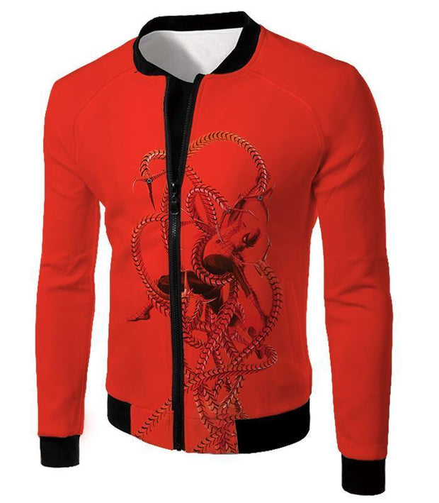 OtakuForm-OP T-Shirt Jacket / XXS Spiderman in Octopus Claws Cool Red Action T-Shirt