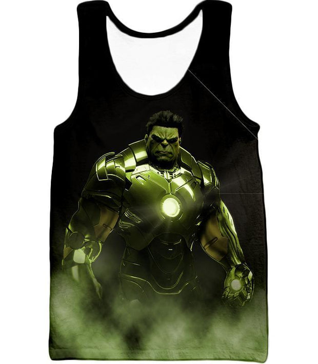 OtakuForm-OP Zip Up Hoodie Tank Top / XXS Super Hulk in Iron Mans Hulkbuster Suit Black Zip Up Hoodie