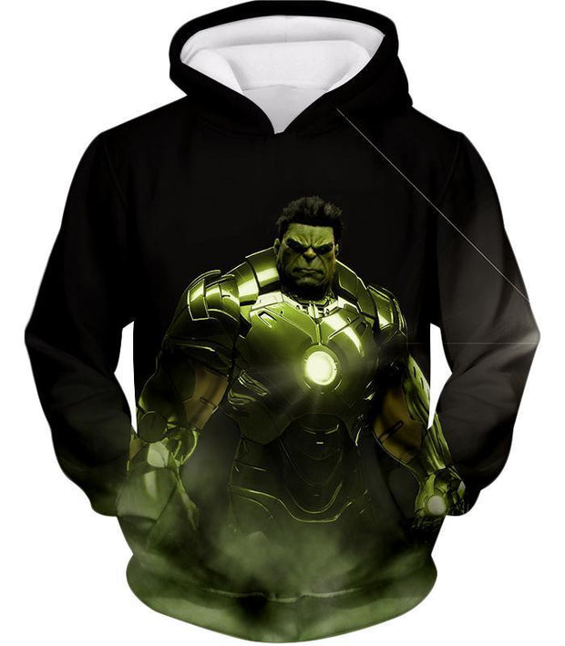 OtakuForm-OP Zip Up Hoodie Hoodie / XXS Super Hulk in Iron Mans Hulkbuster Suit Black Zip Up Hoodie
